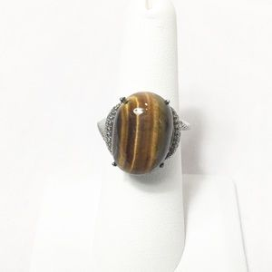 African Tigers Eye Ring